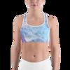 Green & Purple Splotch Sports bra