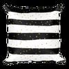 Gold Dots on Black Stripes Square Pillow