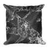 Black Marble Square Pillow