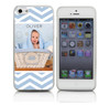 Custom Phone Case for Baby Boy on Light Blue Chevron Pattern