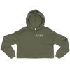 Norwell MA Coordinates Cropped Hoodie in Military Green