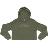 Miami Skyline Cropped Hoodie in Military Green