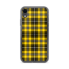 Yellow and Black Plaid iPhone Case
