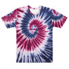 Blue and Red Tie Dye Pattern Men's T-shirt by CBK Co.