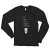 Coffee To Do Long Sleeve Tee in Black
