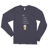 Coffee To Do Long Sleeve Tee in Grey