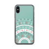 Fun Holiday Pattern iPhone Case on Blue