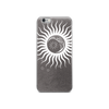 Moon on Grey iPhone Case