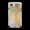 Aqua Gold Liquid Swirl iPhone Case