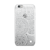White Circle Doodles iPhone Case