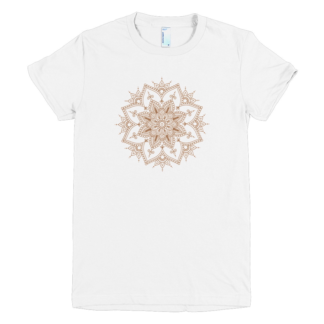 Henna Design Womens Short Sleeve American Apparel Tee Cases By Kate