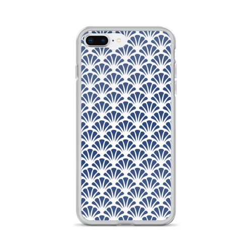 Navy Shells iPhone Case