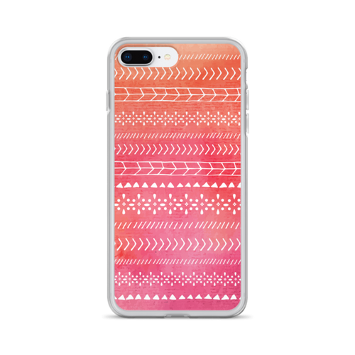 Orange and Pink Tribal iPhone Case