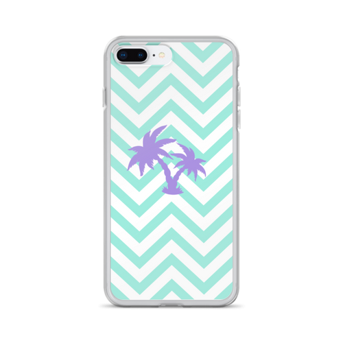 Palm on Chevron iPhone Case