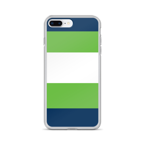 Navy and Green Stripes iPhone Case