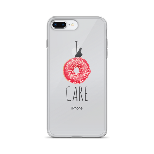 I Donut Care Transparent iPhone Case