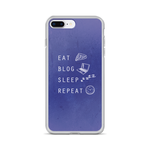 Eat Sleep Blog Repeat iPhone Case