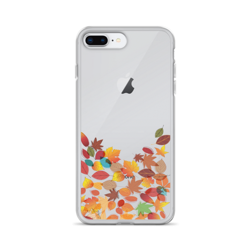 Fall Leaves Transparent iPhone Case