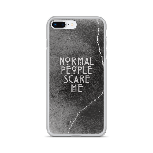 Normal People Scare Me iPhone Case