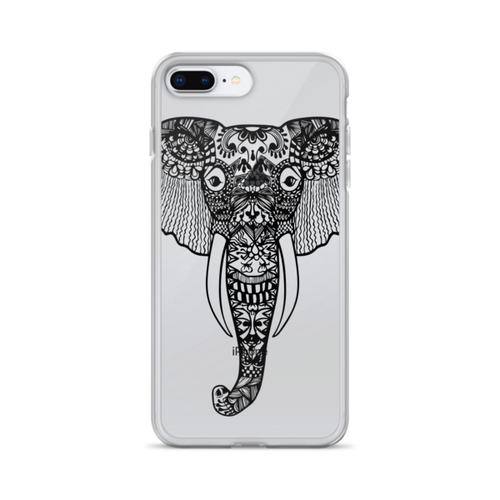 Elephant Zentangle iPhone Case