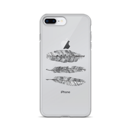 Feathers Transparent iPhone Case