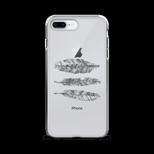 Feathers Transparent iPhone Case