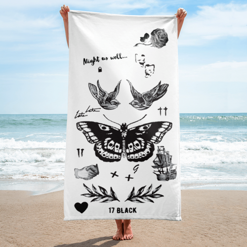Harry's Tattoos Beach Towel