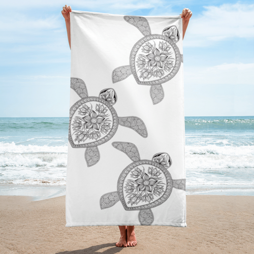 Henna Turtles Beach Towel