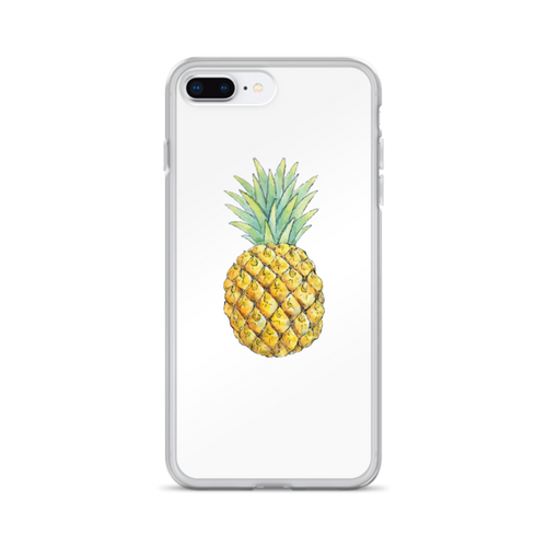 Pineapple on White iPhone Case