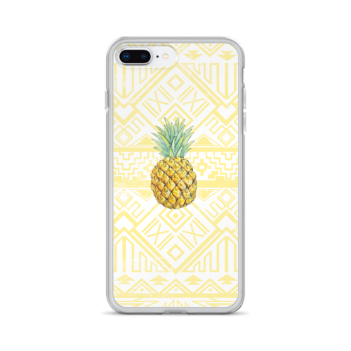 Pineapple on Aztec Pattern iPhone Case