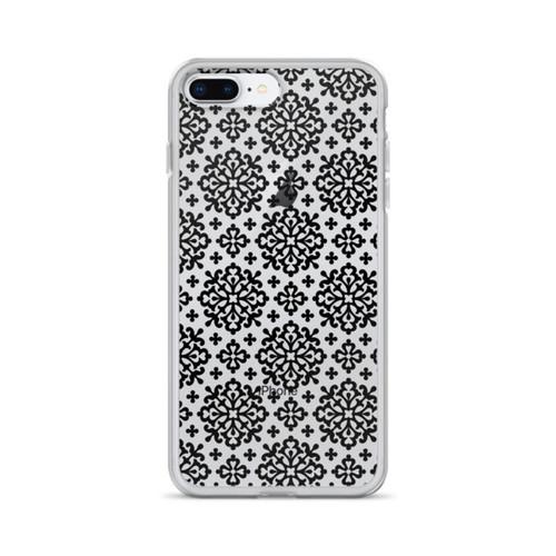 Ornate Black Pattern iPhone Case