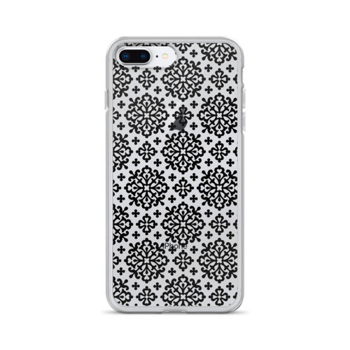 Ornate Black Pattern iPhone Case