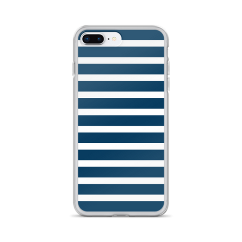 Navy and White Stripes iPhone Case