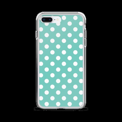 Tiffany Blue Polka Dots iPhone Case