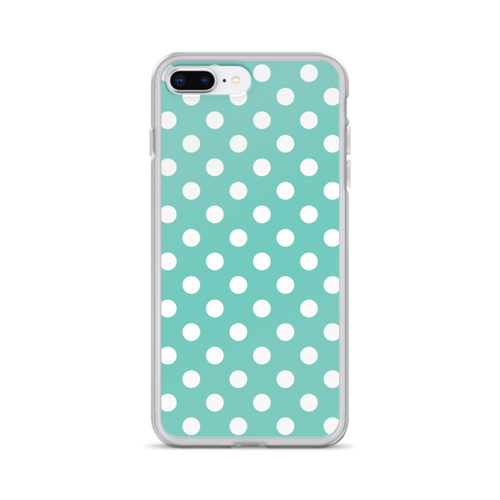 Tiffany Blue Polka Dots iPhone Case