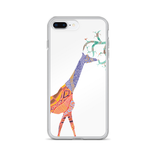 Giraffe on White iPhone Case