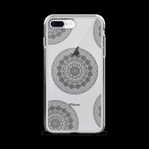 Henna Circle Doodles Transparent iPhone Case