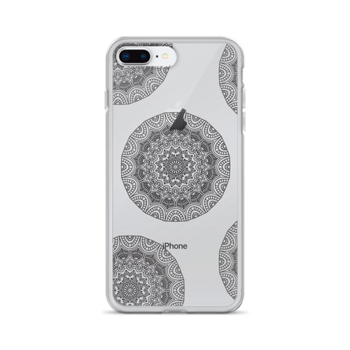 Henna Circle Doodles Transparent iPhone Case