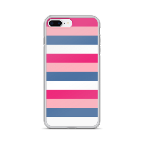 Pink and Blue Stripe iPhone Case