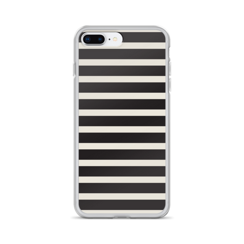 Black and Tan Stripe iPhone Case