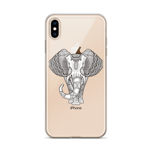 Henna Elephant iPhone Case for all iPhone models including XR, XS Max, X, XS, 7Plus, 8Plus, 7, 8, 6Plus, 6s Plus, 6, 6s