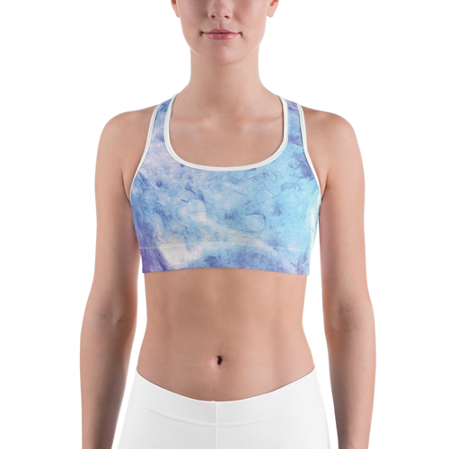 Green & Purple Splotch Sports bra