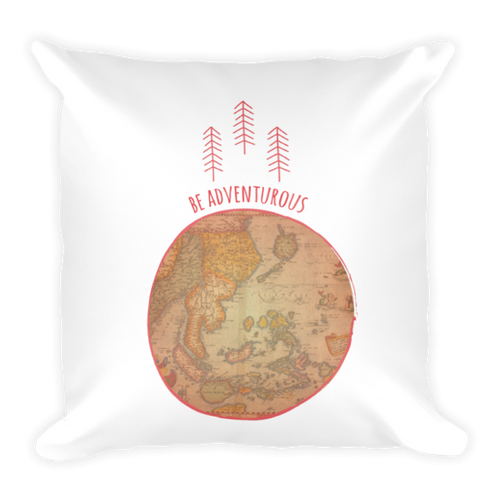 Be Adventurous Square Pillow