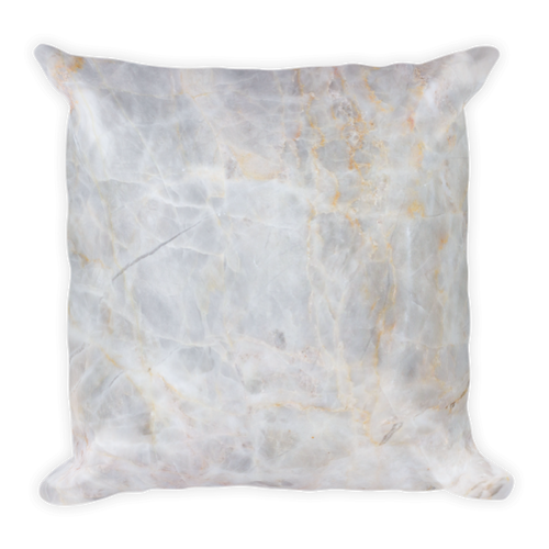 Light Tan Marble Square Pillow