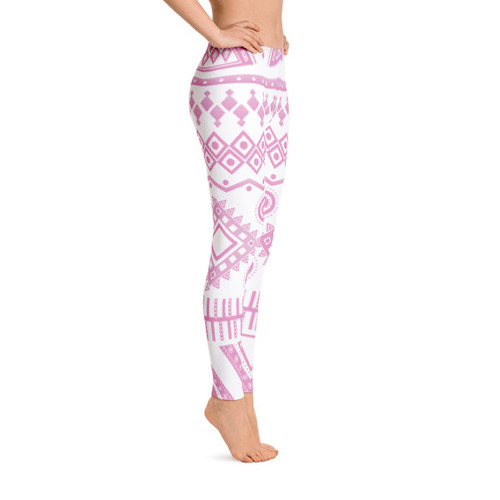 Pink Aztec Leggings