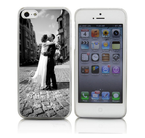 Custom Wedding Picture Phone Case Black and White
