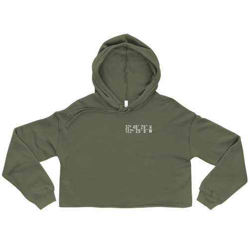 San Francisco Coordinates Crop in Military Green