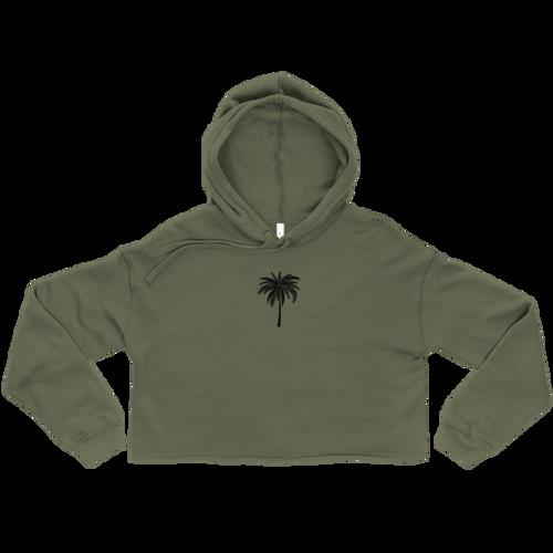 Black Palm Crop Hoodie