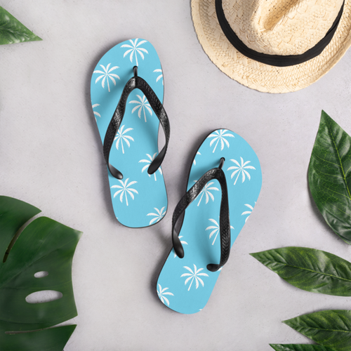 Palm Tree Pattern Flip-Flops