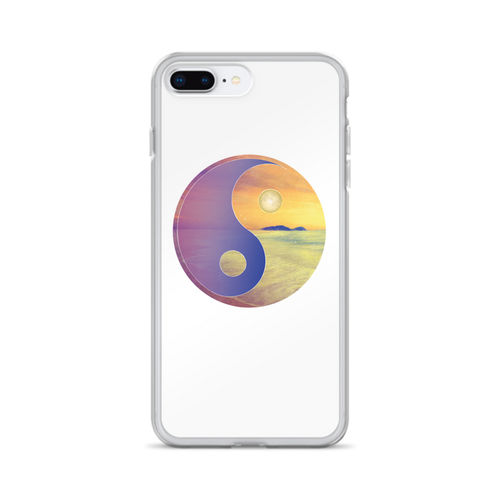 Yin Yang Sunset Beach iPhone Case for all iPhone models including XR, XS Max, X, XS, 7Plus, 8Plus, 7, 8, 6Plus, 6s Plus, 6, 6s